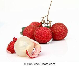 fresco, di, lychees, frutta