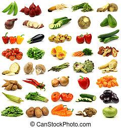 fresco, e, coloridos, legumes