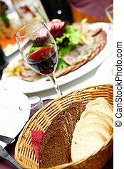 fresco, e, gostoso, alimento, ligado, tabela