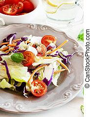 fresco, e, sano, insalata