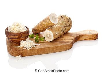 fresco, e, saudável, horseradish
