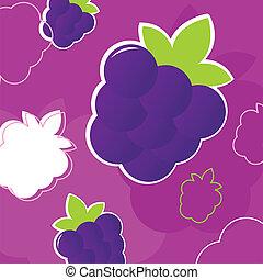 fresco, estate, mora, frutta, retro, fondo, struttura, -, selvatico, p