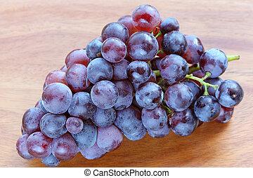 fresco, fazer, uvas vermelhas, vinho