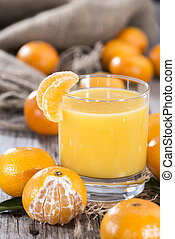 fresco, feito, tangerina, suco