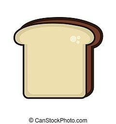 fresco, fetta, bread