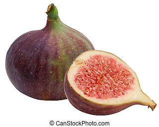 fresco, figo, fruta
