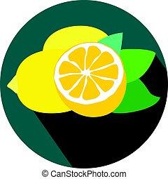 fresco, foglie, limoni