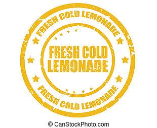 fresco, frío, lemonade-stamp