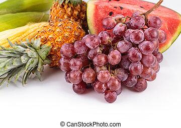 fresco, fruit.