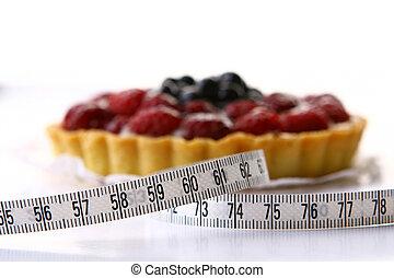 fresco, fruitcake, arándano, baya
