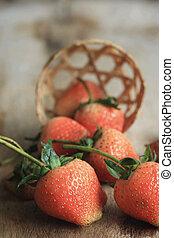 fresco, fruta, gostoso, moranguinho
