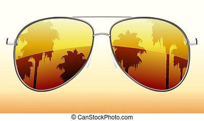 fresco, gafas de sol