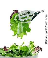 fresco, hojas, ensalada