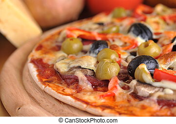 fresco horneado, pizza