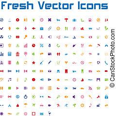 fresco, icone, vettore, version), (simple
