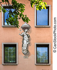 Fresco in Wurzburg, Germany.