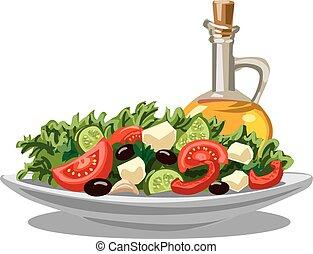 fresco, insalata verde