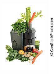 fresco, juicing, frutta, verdura