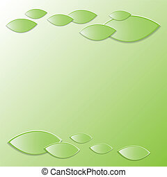 fresco, leaves., fondo, verde