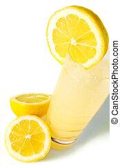 fresco, limonata, visto, da, il, cima