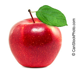 fresco, manzana roja