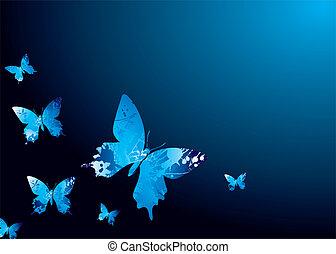 fresco, mariposa