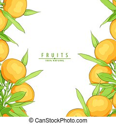 fresco, maturo, arance
