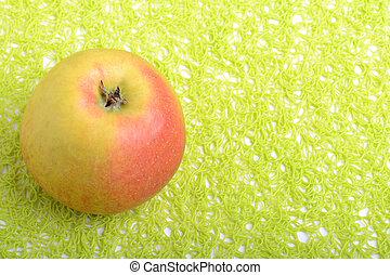 fresco, mela verde, fondo