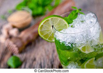 fresco, mojito, bebida
