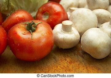 fresco, molhados, legumes