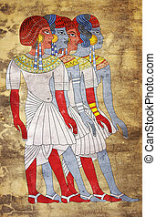Fresco of Women of Ancient Egypt - Image of the Women of...