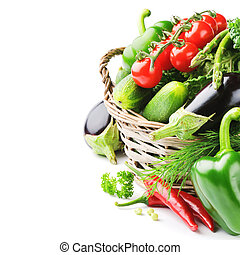 fresco, orgánico, vegetales