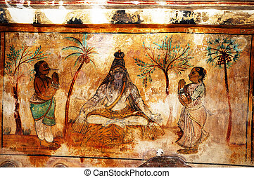Fresco paintings - beautiful and colorful fresco paintings...