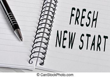fresco, palabras, nuevo comienzo