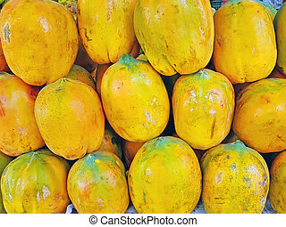 fresco, papaie, india, vendita