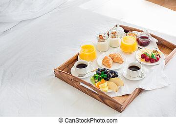 fresco, pequeno almoço, isolado, nenhuma pessoas, serviço...