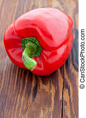 fresco, pimenta, vermelho, sino