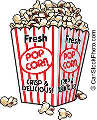 fresco, popcorn
