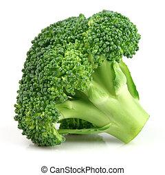 fresco, primer plano, bróculi