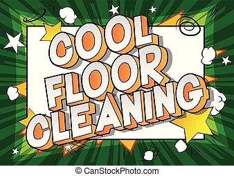 fresco, pulizia, pavimento