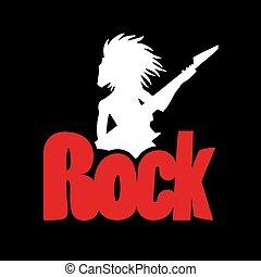 fresco, roccia, uomo, icona