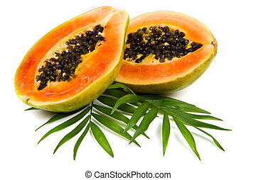 fresco, sabroso, papaya