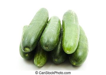 fresco, salada verde, pepinos