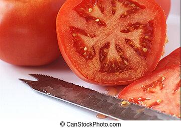 fresco, scelto, pomodoro