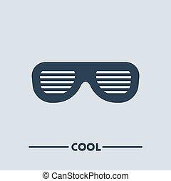 fresco, simbolo, occhiali