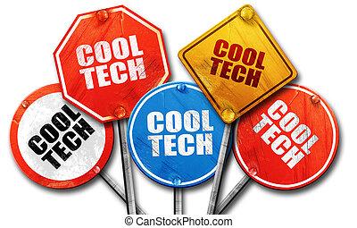 fresco, tecnologia, 3d, interpretazione, ruvido, segnale stradale, collezione