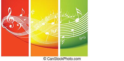 fresco, tema, música