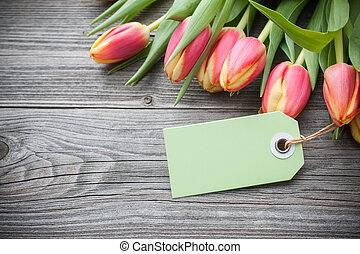 fresco, tulips, e, tag