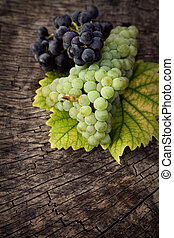 fresco, uvas