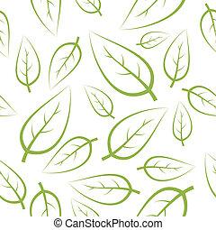 fresco, verde, leafs, textura